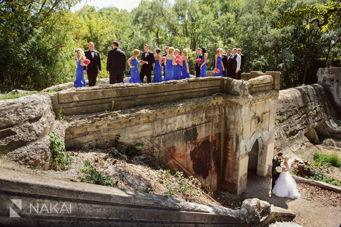 cool creative abandoned ruins urban wedding photo picture