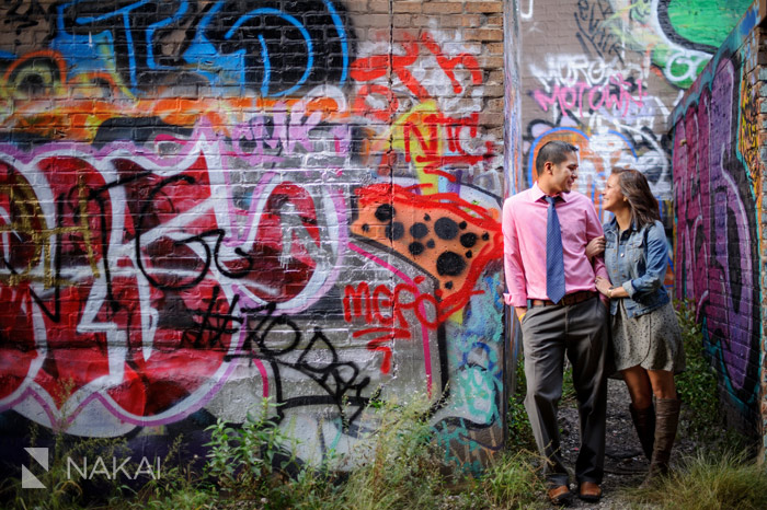 chicago graffiti engagement photos