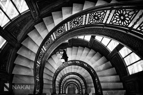 Etonnant Chicago Rookery Wedding Photos Spiral Staircase