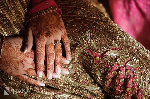 chicago indian bride wedding dress detail