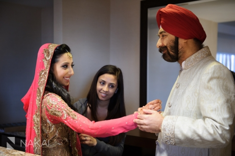 sikh indian father and bride