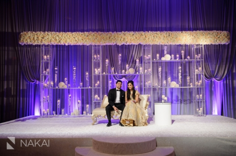Chicago hyatt regency ohare south east asian wedding for 25th wedding anniversary stage decoration