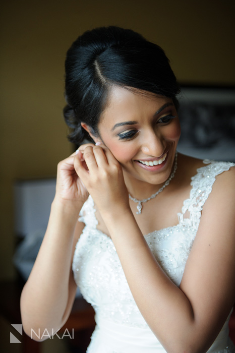 Chicago Indian wedding getting ready bride picture