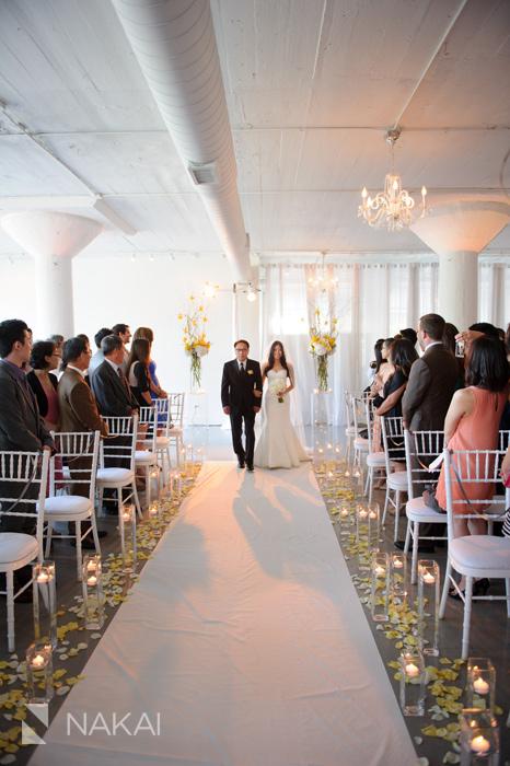 Room 1520 Wedding Ceremony Picture Bride Walking Down