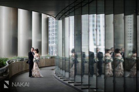 chicago trump hotel wedding photo