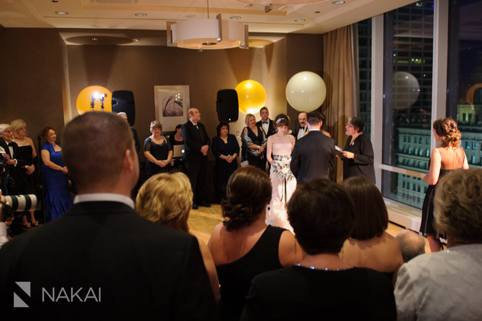 chicago trump salon room wedding ceremony photo