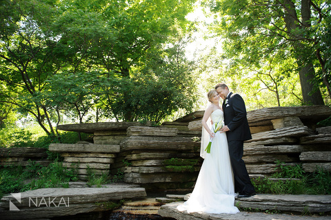 chicago lily pond wedding pictures