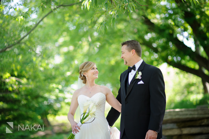 chicago lily pond wedding photos