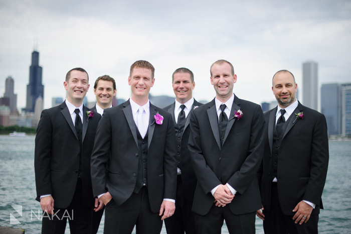 lakefront chicago lake michigan wedding picture