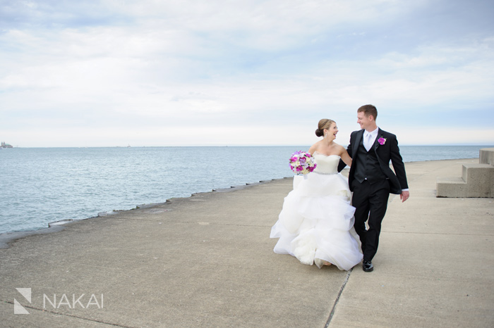 lakefront chicago lake michigan wedding photo