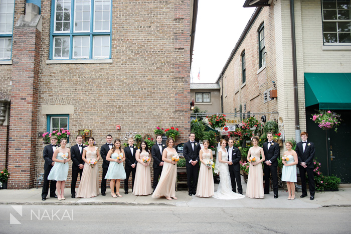 downtown Lake Forest wedding photos
