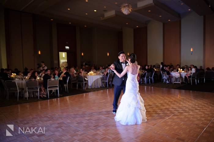 westin chicago north shore wedding reception photo