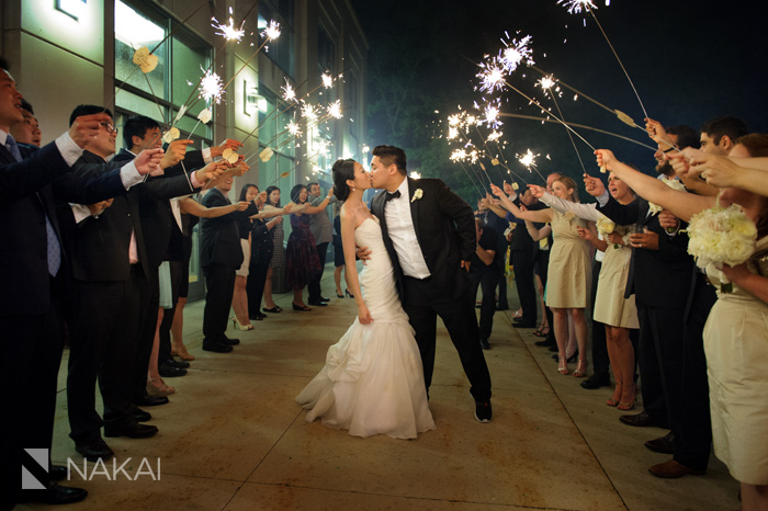 chicago sparkler exit wedding photo