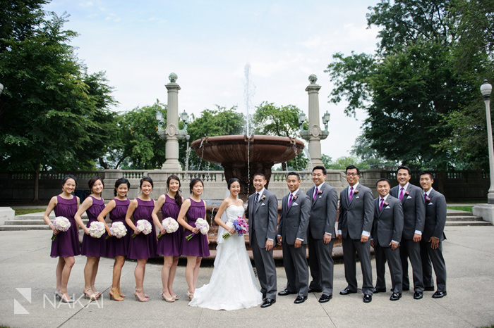 chicago park wedding picture