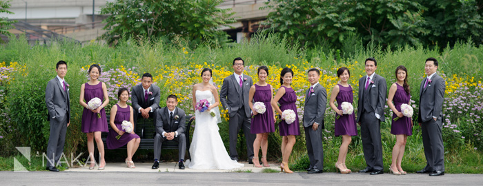 chicago park wedding photo