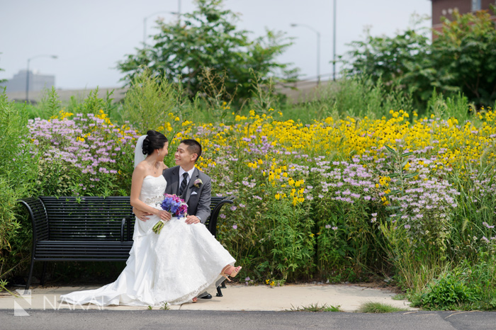 chicago nature wedding picture