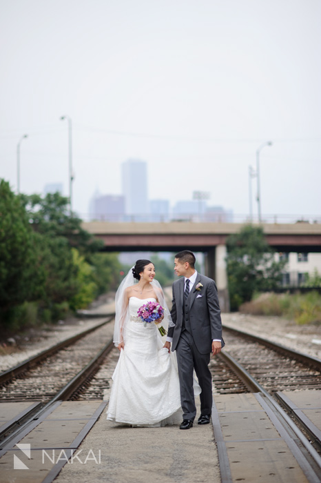 chicago urban wedding picture