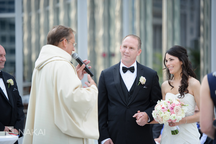 chicago trump hotel wedding ceremony photo