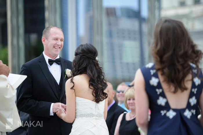 trump hotel chicago wedding ceremony photo