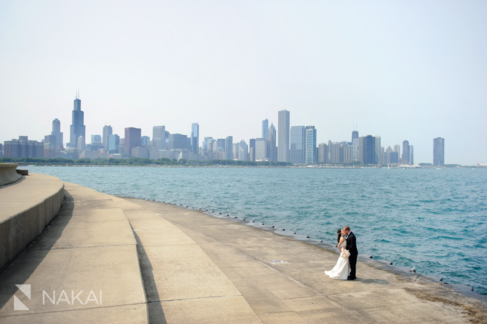 adler planetarium wedding photo