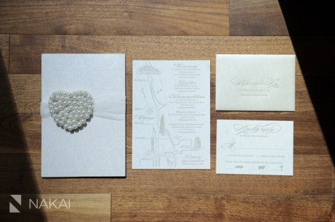 letterpress luxury wedding invitation