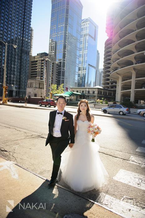 chicago bridge wedding photography