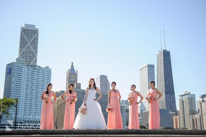 chicago skyline olive park wedding photographer