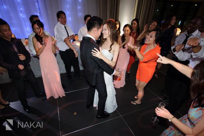 chicago langham wedding reception photographer