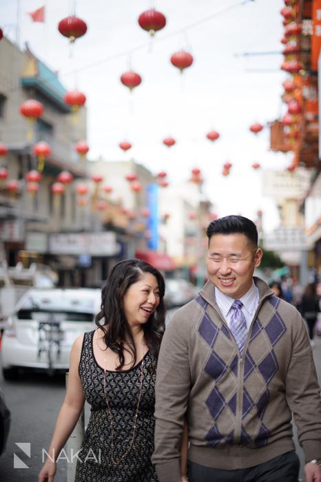 San Francisco chinatown engagement photo