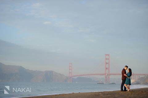 best san francisco golden gate bridge engagement photo SF