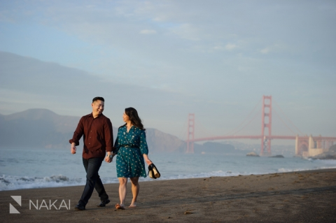 best golden gate bridge engagement photo SF
