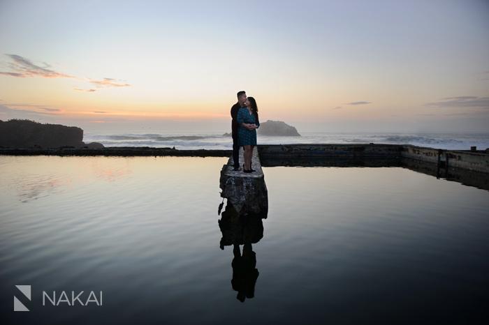 San Francisco sutro baths engagement photo