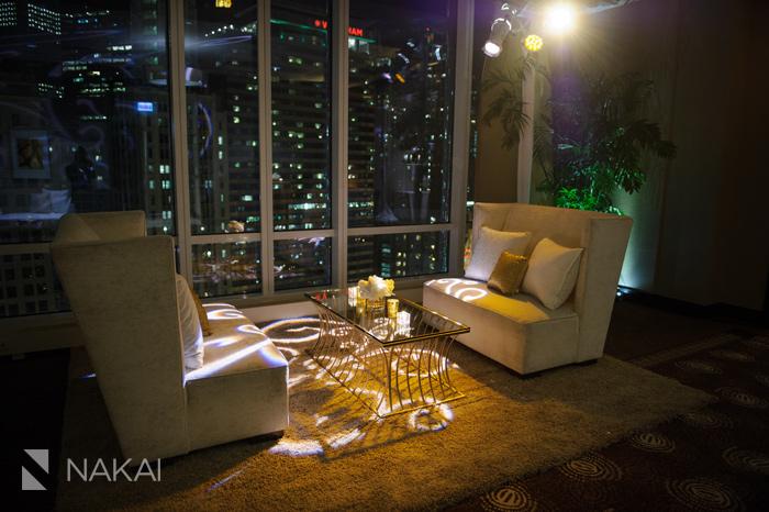 chicago trump tower luxury wedding photos