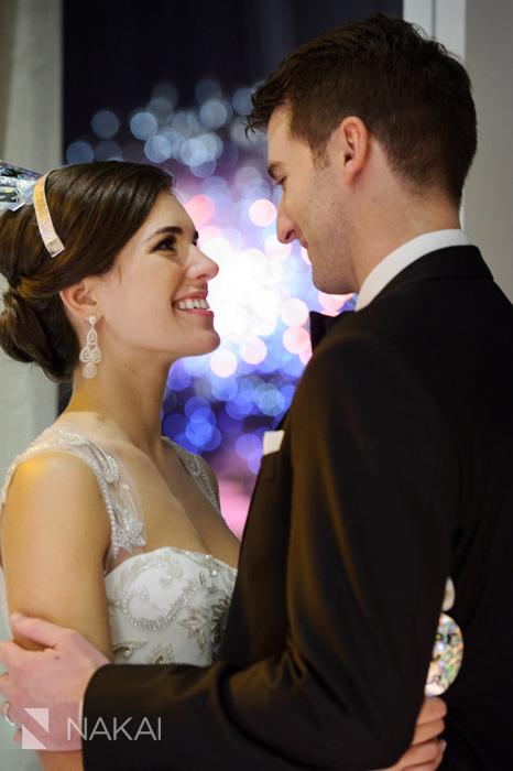 chicago fireworks wedding photos