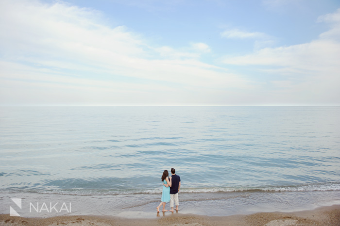 beach engagement pictures chicago