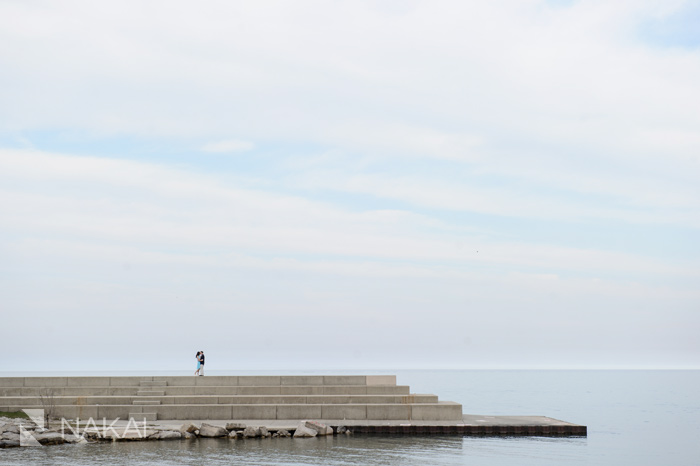 lakefront lake michigan engagement pictures chicago
