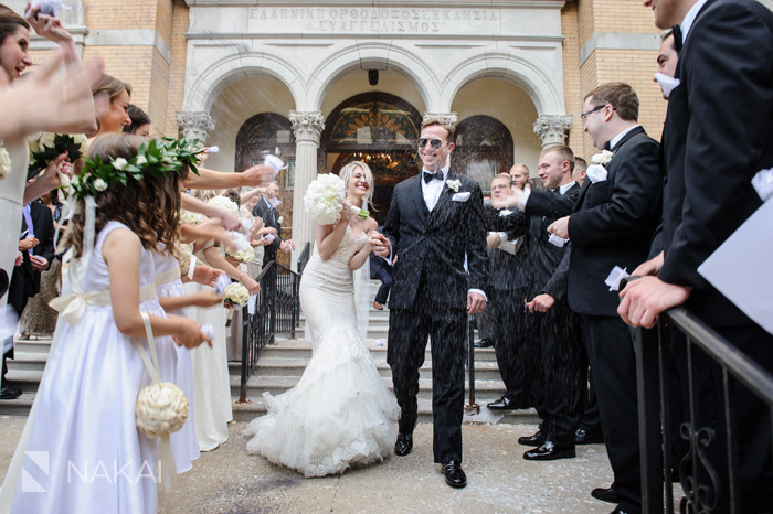 fun chicago wedding photo