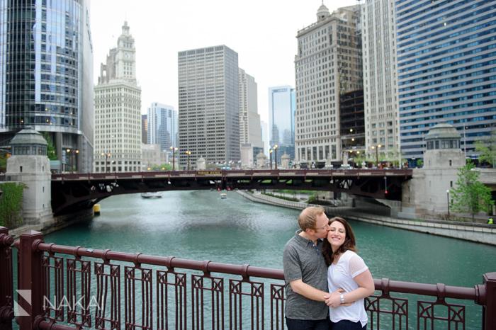 chicago engagement photographer river