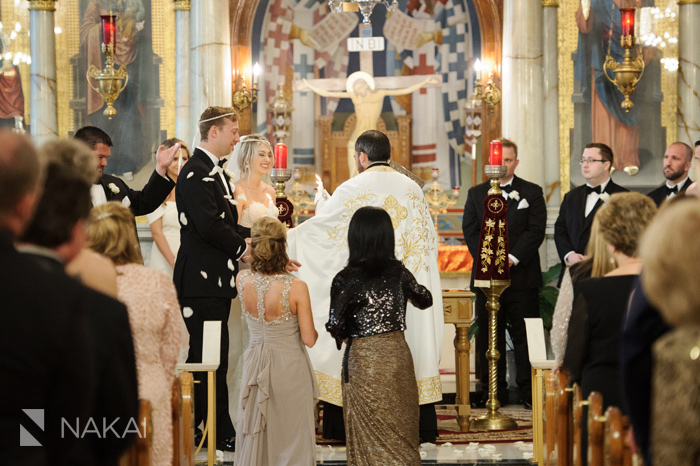chicago greek orthodox wedding photos