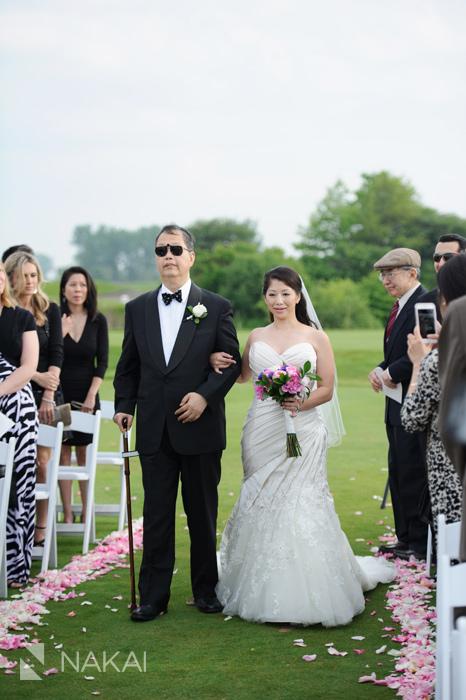 illinois golf course wedding photo