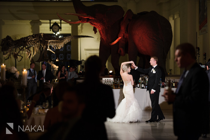 field museum wedding photography reception
