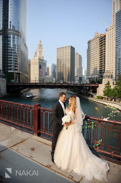 chicago wedding photographer river photos