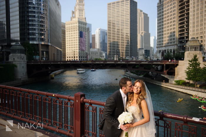 chicago wedding photographer river pictures