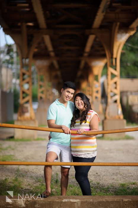chicago engagement pic