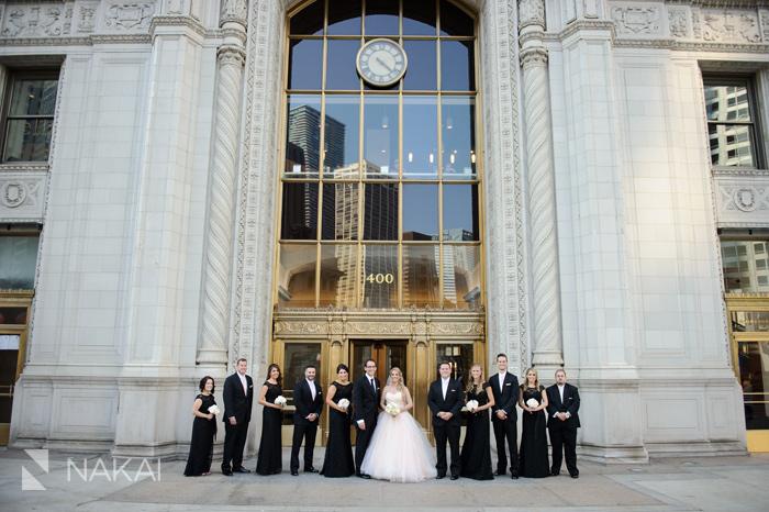 chicago wrigley building wedding photos