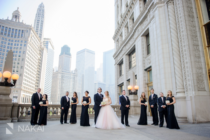 chicago wrigley building wedding photographer