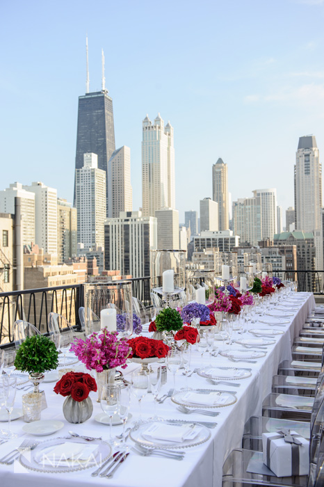 Chicago Public Hotels Hmr Designs Photo Rehearsal Dinner Rooftop