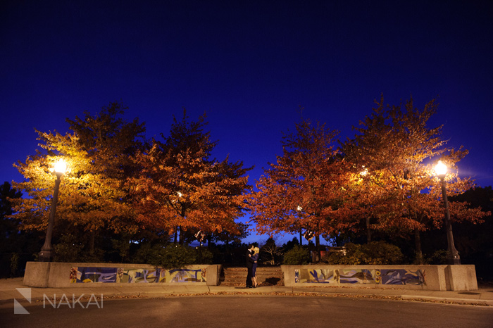 best chicago engagement pictures at night