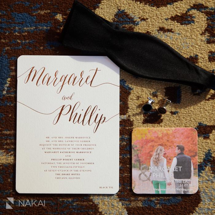 chicago luxury wedding invitation photo
