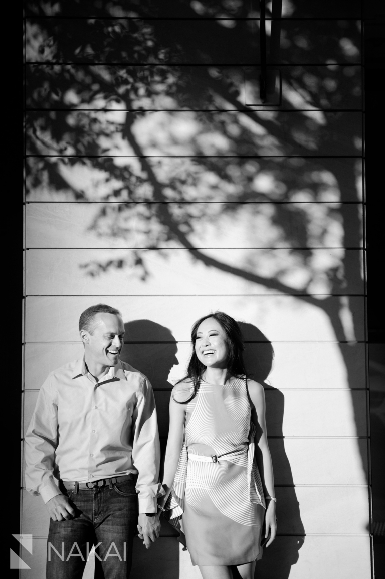 chicago engagement session photography black and white